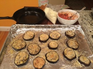 Eggplant Baked with Panko Topping